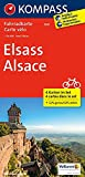 Elsass / Alsace: Fahrrad-, Mountainbike- und Freizeitkarte. GPS-genau. 1:70000: 4-delige fietskaart 1:70 000 (KOMPASS-Fahrradkarten International, Band 3501) - KOMPASS-Karten GmbH