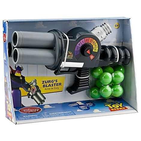 Disney Store Fucile Cannone Arma da Fuoco Mitraglia Zurg Imperatore Toy Story 3 Mitragliatrice Blaster Pistola Originale