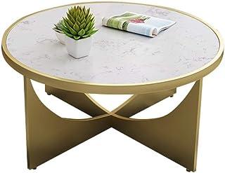 smzzz Mejoras para el hogar Diseño de Muebles Mesa de Centro Creativa Marco de Mesa de Metal con tapetes Antideslizantes E...