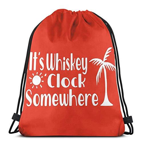 Es ist Whiskey O \'Uhr Irgendwo Kordelzug Rucksack Rucksack Umhängetaschen Gym Bag