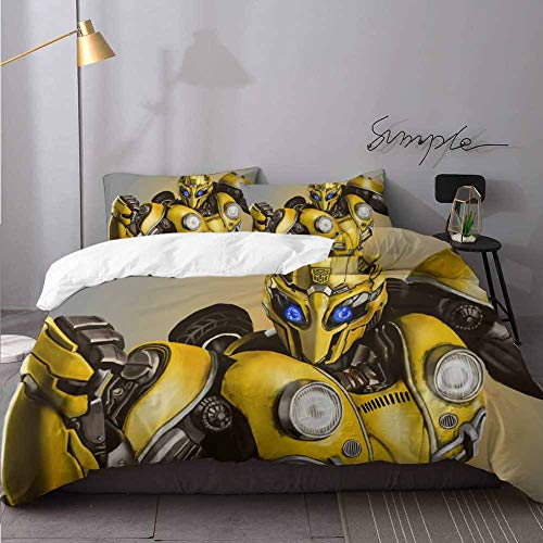 Christmas Bedding Bumblebee Comforter Cover with Zipper Closure and 2 Pillow Shams Bedding 3 Piece Duvet Cover Set Twin