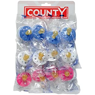 County Sales Baby Soothers Dummies Pacifiers Pack of 12 Cheap Bulk Deal Fast DEL:Tudosobrediabetes