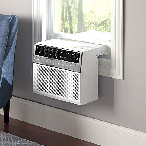 Soleus Air Exclusive 8,000 BTU Energy Star First Ever Over The Sill Air Conditioner Putting it in a Class of its Own for Safety and Whisper Quiet, Along with Keeping Your Window View