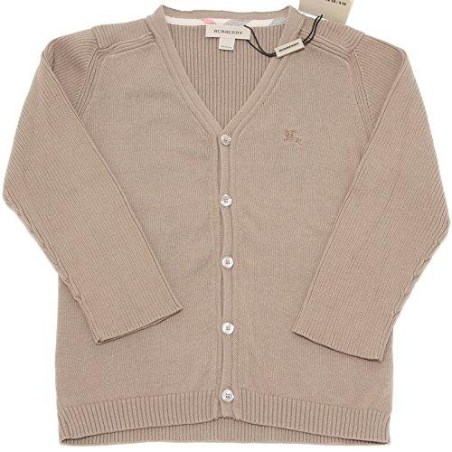 BURBERRY 9760F Cardigan Tortora Cotone Maglia Maglione Bimbo Sweater Kids [9 Months]