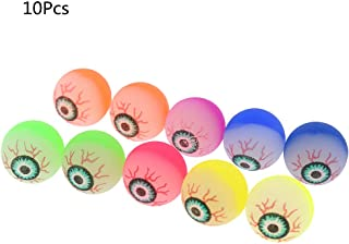 Autone 10pcs/1bag Halloween Glowing Bouncy Eye Balls, Halloween Horror Scary Cosplay Prop Party Haunted Decoration