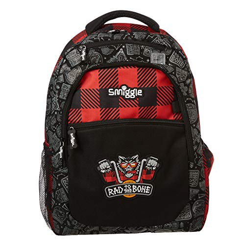 Smiggle Express Kids School Backpack for Boys & Girls with Laptop Compartment & Dual Drink Bottle Sleeves | Wolf Print