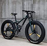 HYCy Bicicleta De Montaña para Hombres Y Mujeres,Alto Carbono,Freno De Disco Mecánico,Ruedas De Aleación De Aluminio De 26 Pulgadas