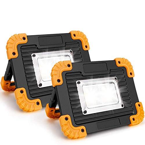 xfyx Luz de Trabajo LED, Luces de inundación portátiles Impermeables, para Acampar al Aire Libre, Senderismo, reparación de automóviles de Emergencia e iluminación del Lugar de Trabajo