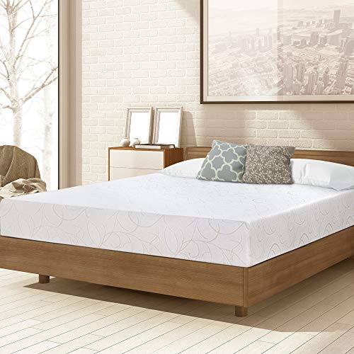 PrimaSleep 7'/9'/11' Inch Dura Deluxe Comfort Memory Foam Mattress, Twin, White