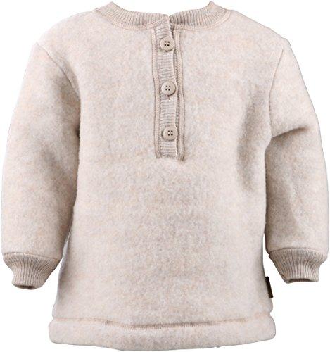 mikk-line mikk-line Unisex Baby Woll-Shirt Sweatshirt, Beige (Melange Offwhite 429), 80