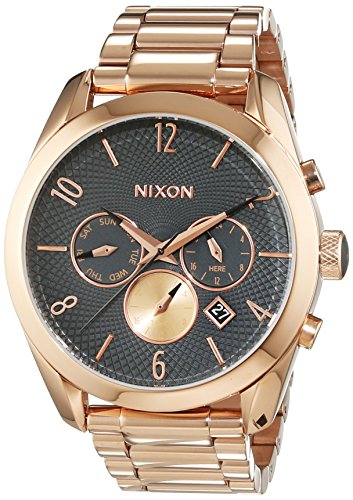 Nixon Damen-Armbanduhr Bullet All Rose Gold / Gunmetal Chronograph Quarz Edelstahl A3662046-00
