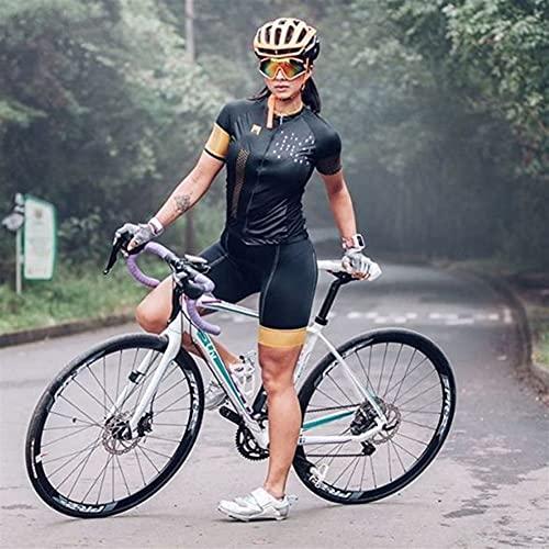 TRIATHLON Damen Outdoor Sportswear Cycling-Anzug Kurzärztlicher eng anliegender Rad-Anzug-Overall (Color : 108 3, Size : XXXXX-Large)