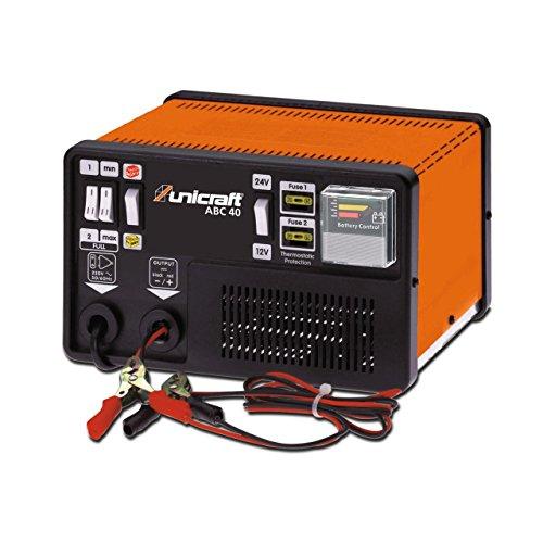 Unicraft Automatisches Batterielade-/erhaltungsgerät ABC 40 (für PKW, Motorrad, LKW, Traktor, 400 W, für Überwinterung von Fahrzeugen geeignet) 6850210