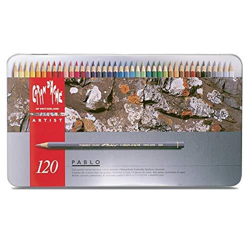 Caran d'Ache Pablo 0666-420, set di 120 matite colorate