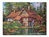 Needlepoint Kit The Water Mill 18x24in 46x60cm Printed Canvas 701
