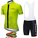 ZYQZYQ Ropa De Ciclismo Ropa Jerseys del Equipo Bicicleta Babero De Secado Rápido Conjuntos Ropa Ropa De Ciclismo Uniformes Camisa Ropa Deportiva,B-XL