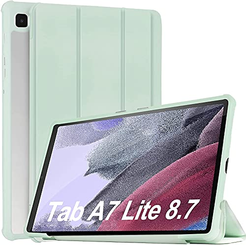 IVSO Funda Compatible con Samsung Galaxy Tab A7 Lite 2021 Tableta(SM-T225/SM-T220), Compatible con Samsung Galaxy Tab A7 Lite Funda, Funda Compatible con Samsung Galaxy Tab A7 Lite 8.7 2021, Green