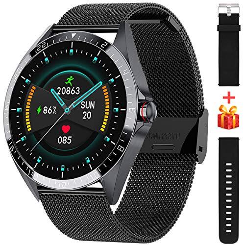 ieverda Smartwatch,Reloj Inteligente con Pulsómetro,Cronómetros,Calorías,Monitor de Sueño,Podómetro Pulsera Actividad Inteligente Impermeable IP68 Smartwatch Hombre Reloj Deportivo para Android iOS