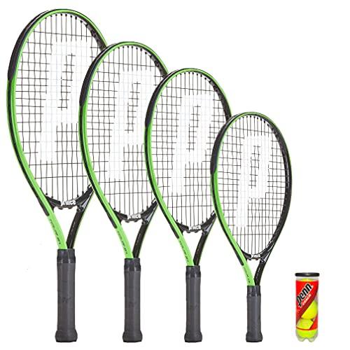 Prince Tour Junior - Raqueta de tenis (48,2 cm, incluye funda protectora y 3 pelotas de tenis