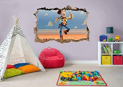 YJYG Wandaufkleber Toy Woodys 3D Smashed Wandaufkleber Aufkleber Home Decoration Art Wandbild für Kinder