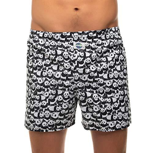D.E.A.L International Boxershorts Schwarz & Weiß mit Panda Motiv Größe XL