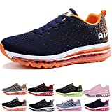 Uomo Donna Air Scarpe da Ginnastica Corsa Sportive Fitness Running Sneakers Basse Interior Casual all'Aperto Blue Orange 36 EU
