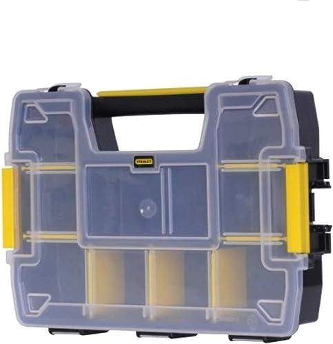 Stanley Stst1-70720 Sort master Organiseur Empilable - 10 Compartiments - 2,25L - Charge Maximale 2.5Kg - Poignée Ant...