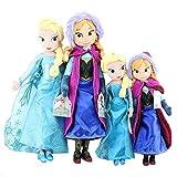 cgzlnl Frozen Anna Y Elsa Dolls, Snow Queen Princess Soft, Anna Elsa Doll Toys Peluches De Peluche Niña Regalos De Cumpleaños De Navidad 4Pcs / Set 40 / 50Cm