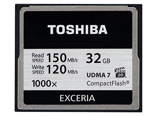 Toshiba Exceria CompactFlash 32GB (bis zu 150MB/s lesen) Speicherkarte schwarz