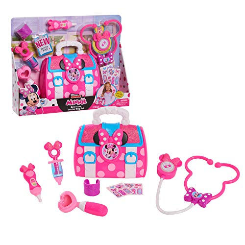 Disney Junior's Minnie Mouse Bow-Care Doctor Bag Set Includes a Lights and Sounds Stethoscope, by Just Play