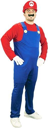 Unbranded Mens Super Mario Luigi Brothers Fancy Dress Up Party Costume + Hat + Moustache