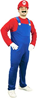 Unbranded Mens Super Mario Luigi Brothers Fancy Dress Up Party Costume + Hat + Moustache
