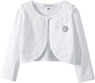 Girls Long Sleeve Lace Bolero Shrugs Cotton Cardigan Dress Cover Up