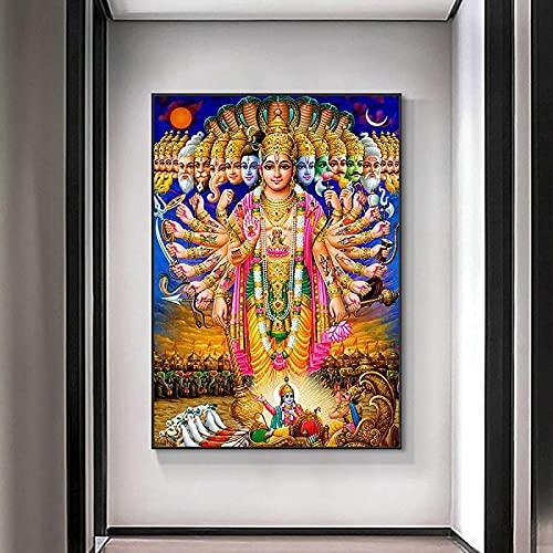 SXXRZA Art Poster 40x60cm Frameless Hindu Poster Picture Soggiorno Camera da Letto Decorazione della...