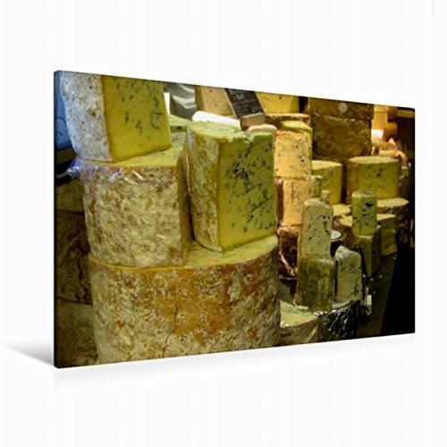 Calvendo Premium Textil-Leinwand 120 cm x 80 cm quer, Blauschimmelkäse   Wandbild, Bild auf Keilrahmen, Fertigbild auf echter Leinwand, Leinwanddruck: Alles Käse Lifestyle Lifestyle