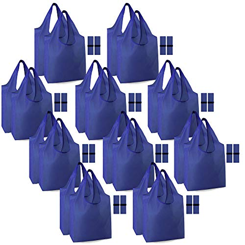 Reusable Shopping Bags Bulk 50 LBS Machine Washable Extra-Large Heavy Duty Durable Eco-Friendly...