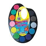 12 Jumbo Farben mit Palette Wasser Malset & Bürste Kinder malen basteln Set Kunst -