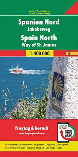 España Norte. Camino de Santiago 1:400.000 mapa de carreteras. Freytag & Berndt.: Wegenkaart 1:400 000: AK 0527 (Auto karte)