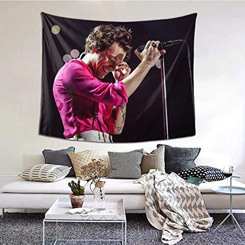 YeeATZ Harry Styles Tapiz Hippie para colgar en la pared, mantel, decoración del hogar, para sala de estar, dormitorio (negro152 x 138 cm)