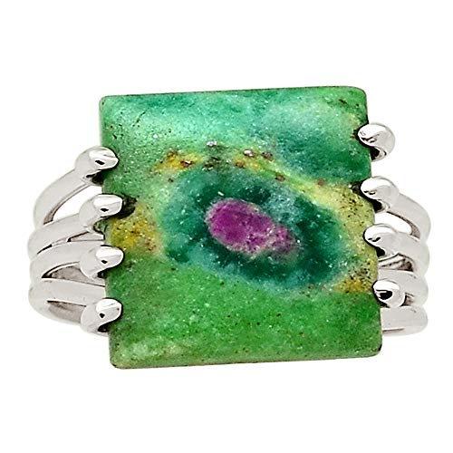 Xtremegems Ruby in Fuchsite 925 Sterling Silver Ring Jewelry Size 9.5 29743R