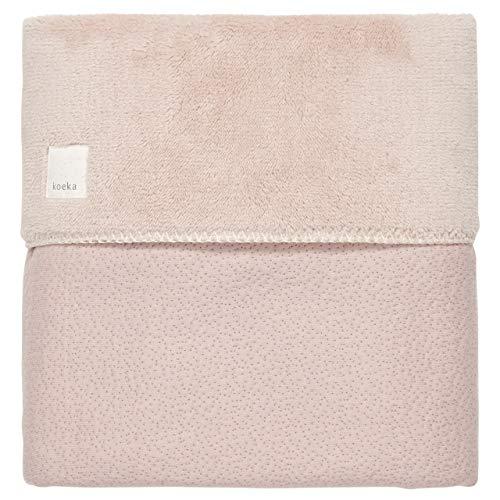 Koeka Bettdecke Teddyfutter Für Babywiege Und Babykorbe Riga Grey Pink 75X100 Cm