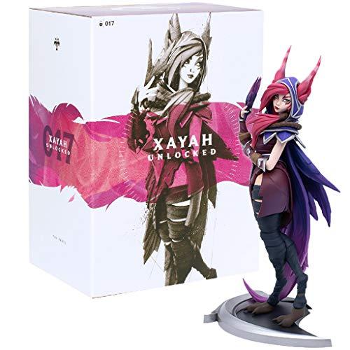 civaza Für die League of Legends Figure, Spiel für Legual of Legends Geschenk/Xayah XL-Figuren (Sammlung)