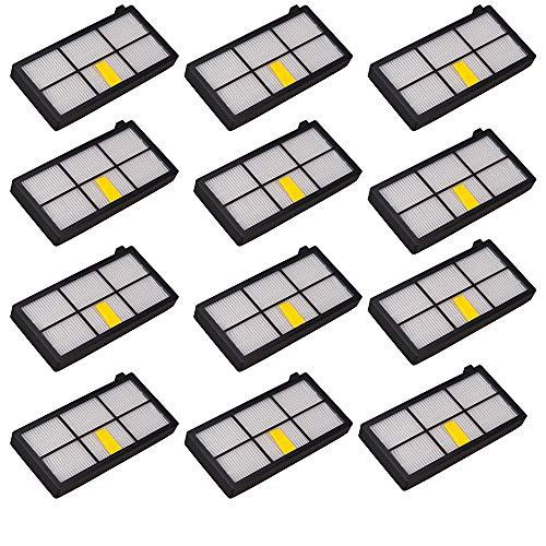 LOTIN 12 filtros HEPA para robots de aspiradora...