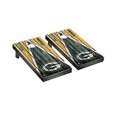 Victory Tailgate NFL Green Bay Packers Triangle Weathered Football Cornhole Game Set, Regulation, Team Color