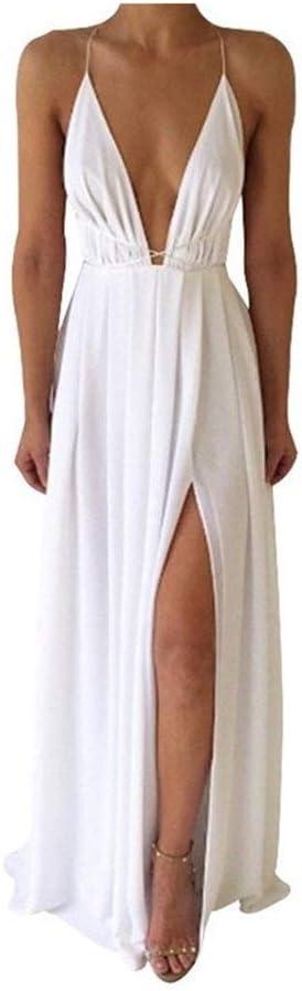 KAKAYO Summer Maxi Dress Women Sleeveless Deep Some reservation V-Neck Sexy Solid Japan Maker New