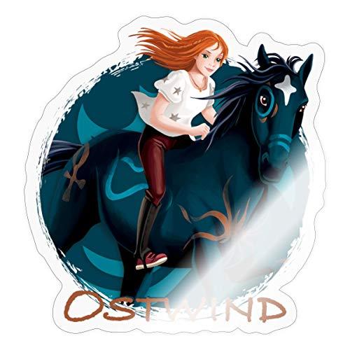 Spreadshirt Ostwind Pferd Brandzeichen Sticker, One Size, Transparent glänzend