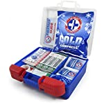 Be Smart Get Prepared 10HBC01082 100Piece First Aid Kit, Clean, Treat & Protect Most Injuries With The Kit that is great… 12 Manufactured by the #1 leading manufacturer of First Aid Kits in the USA. 100 pieces of comprehensive first aid treatment products. This Kit meets United States FDA Regulatory Standards as a Medical Device. Ideal for most businesses and perfect for family use at home or travel. Fully organized interior compartments provides quick access. The rugged, sturdy, high density plastic case is impact resistant