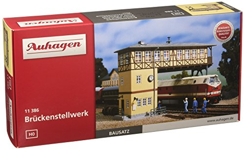 Auhagen 11386 - Cabina di manovra con Ponte per modellismo Ferroviario
