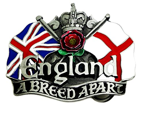 Engeland riem gesp - een ras apart - Unie vlag & kruis van St George met rode roos Engels patriot authentieke draak ontwerpen merkproduct