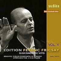 Brahms: Violin Concerto; Symphony No. 2 by Giaconda De Vito